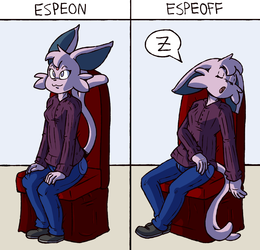 Commission - Espeon/Espeoff
