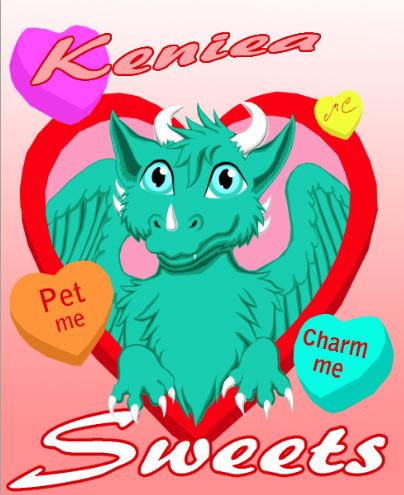 Keniea Coversation Heart Badge