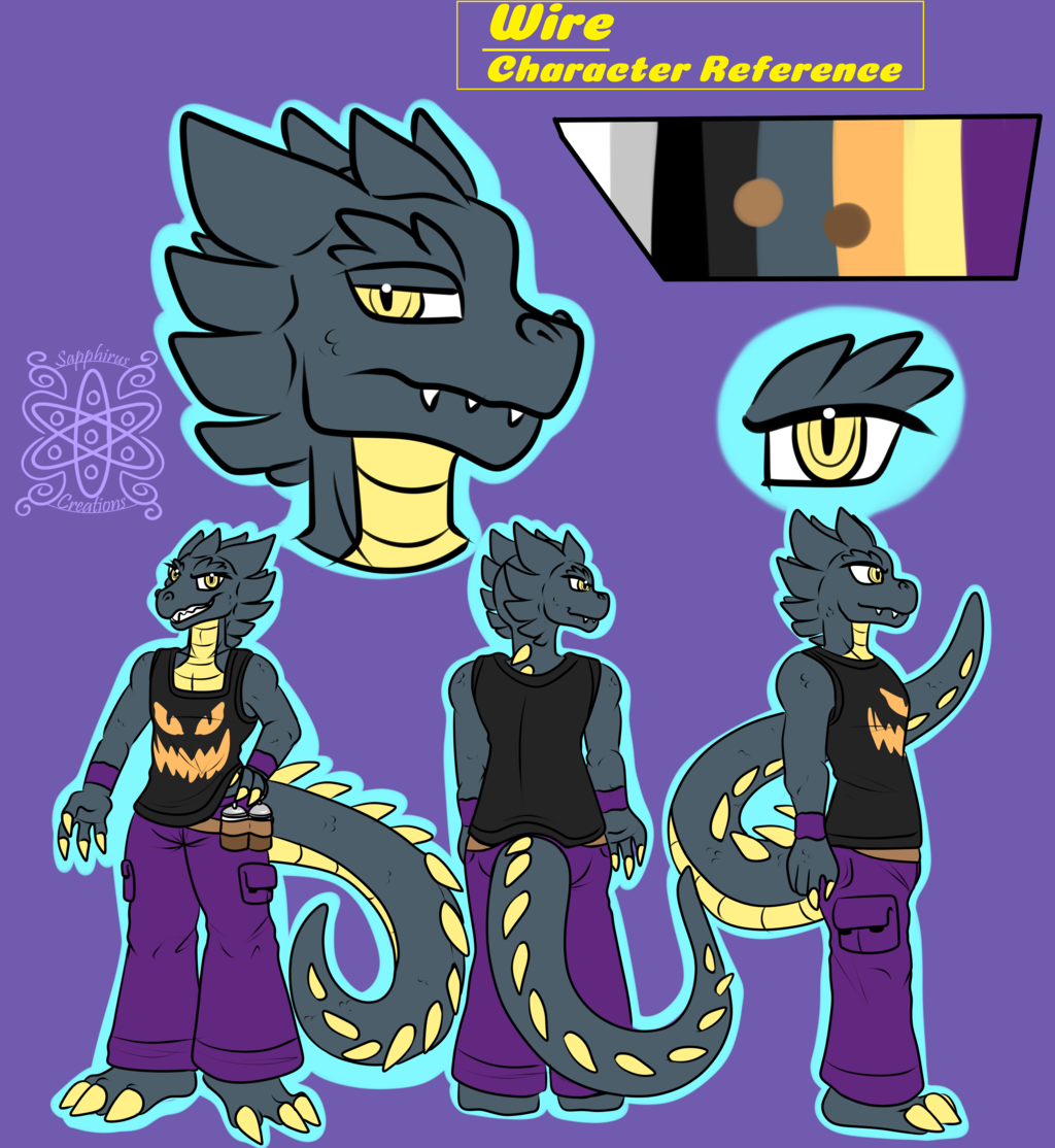 Wire +Flatcolored Character Commission+