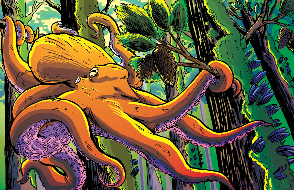 Commission: PNW TREE OCTOPUS