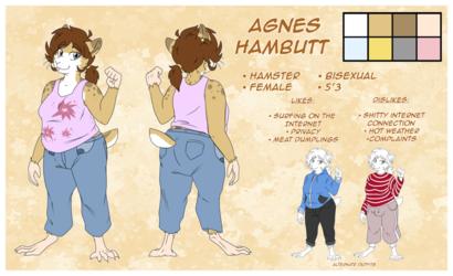 Agnes Hambutt (Fursona) Reference