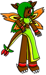 Shula with her Fire Wings