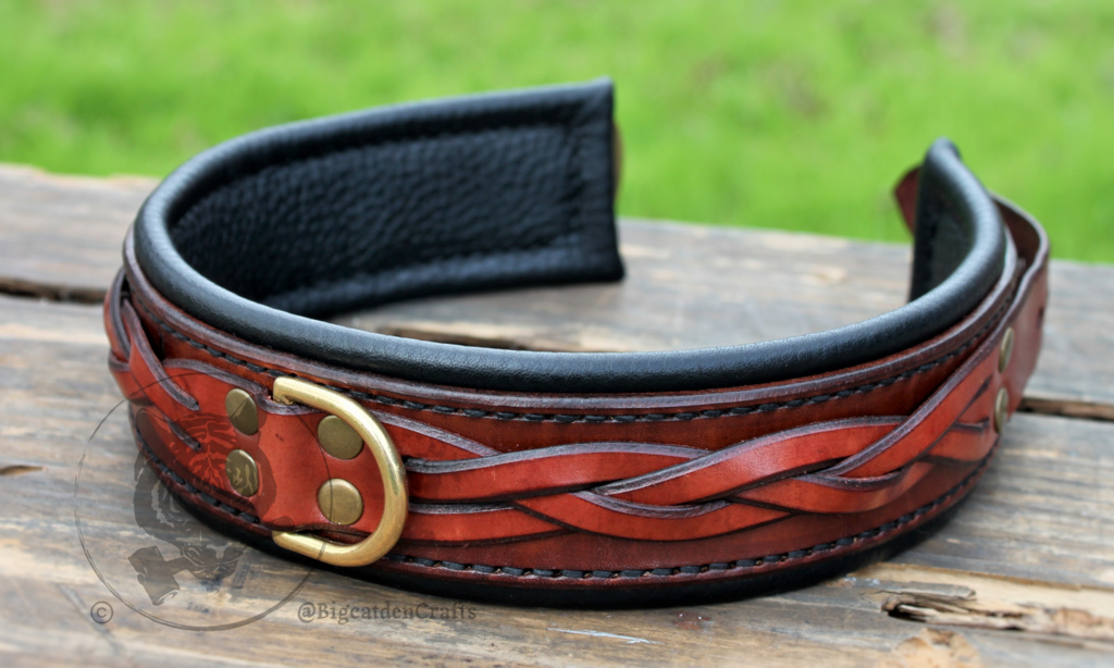 Braided Mahogany Collar