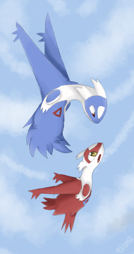 Most recent image: Latios and Latios(speed paint)