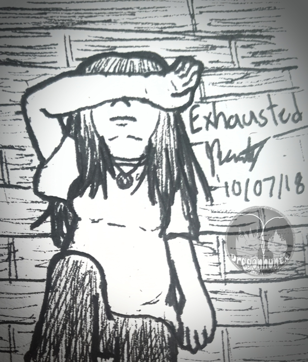 """Inktober 2018 - Day 7 """"Exhausted"""""""
