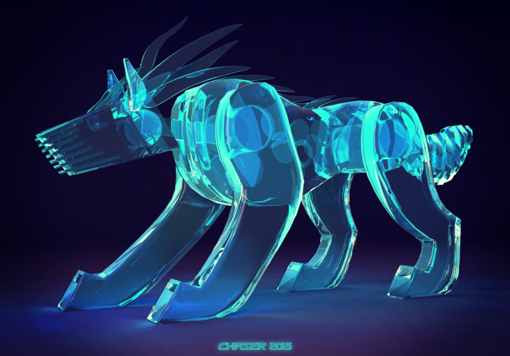 Liquid-crystal-nano-synthetic-robot-dog-thing