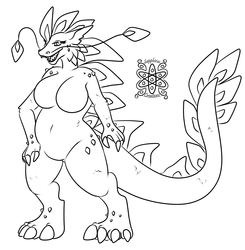 Female Ice Dragoness +Commission WIP+