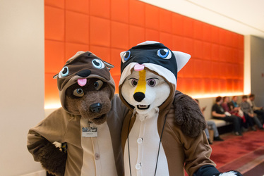 Midwest Furfest 2014 - Subby and Rawkit