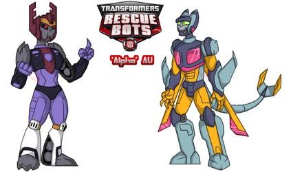 Rescue Bots 'Alpha' AU Galvatron and Cyclonus