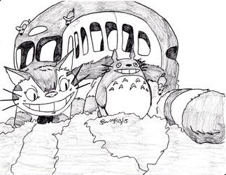 Catbus & Totoro