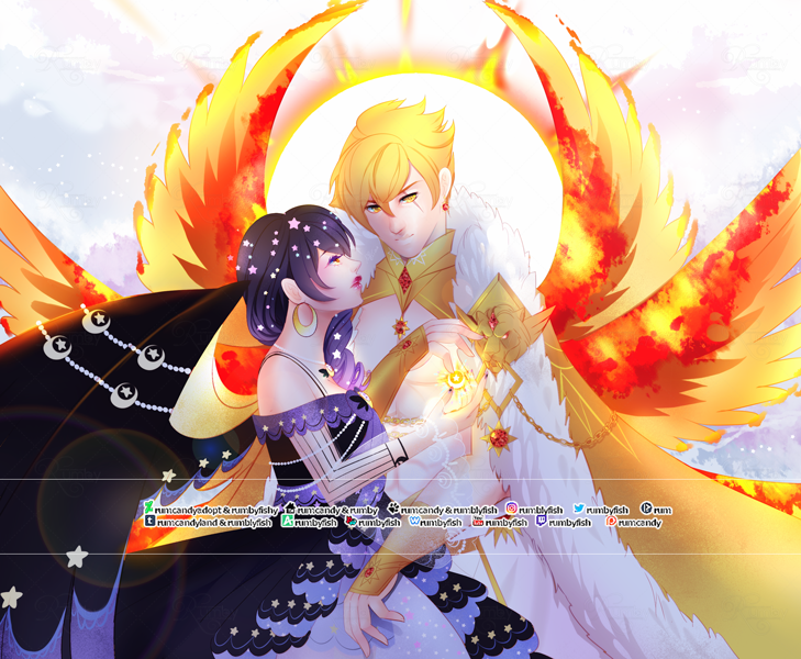 Sun and Moon Guardian Angels ☼ Speedpaint