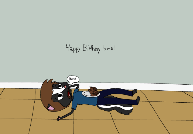 Birthday Skunk