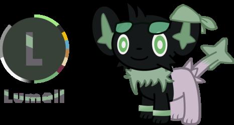 Lumell (Shinx + Eevee Hybrid)