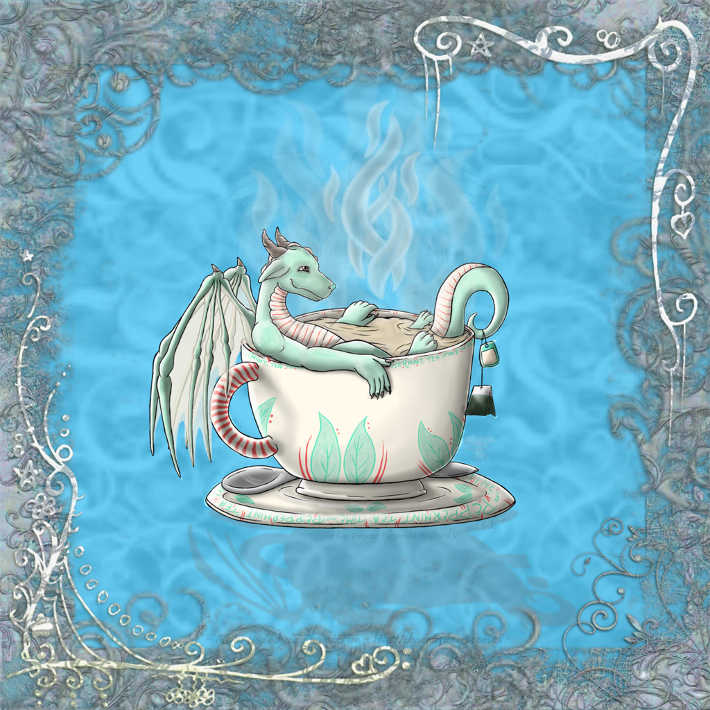 [Redbubble] Peppermint Tea Cup Dragon