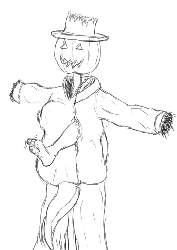Drawlloween #27 - Scarecrow