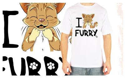 I love FURRY Tshirt