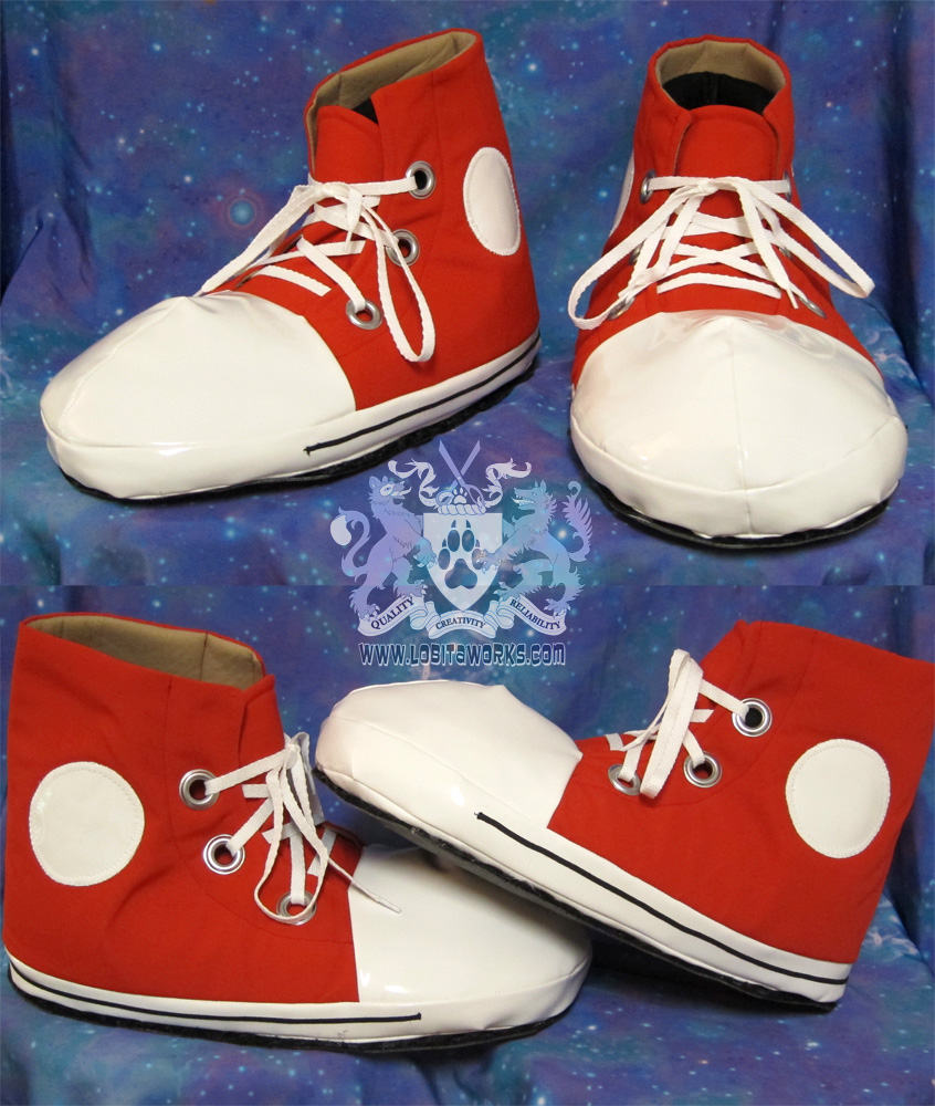Red Fursuit Sneakers