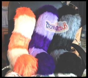 (FOR SALE) Striped Fursuit Tails