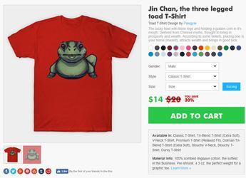 Teepublic: Jinchan the toad