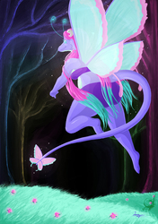 Taala Swooping through her world - Night Light