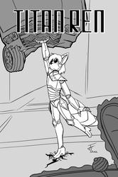 Titan Ren - mock comic book cover sketch