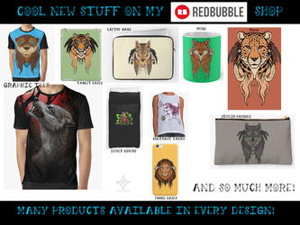 REDBUBBLE - New Products!