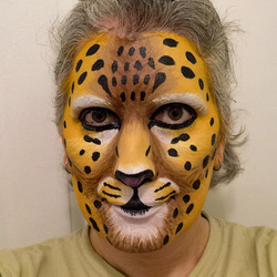Realistic leopard makeup, 2nd try