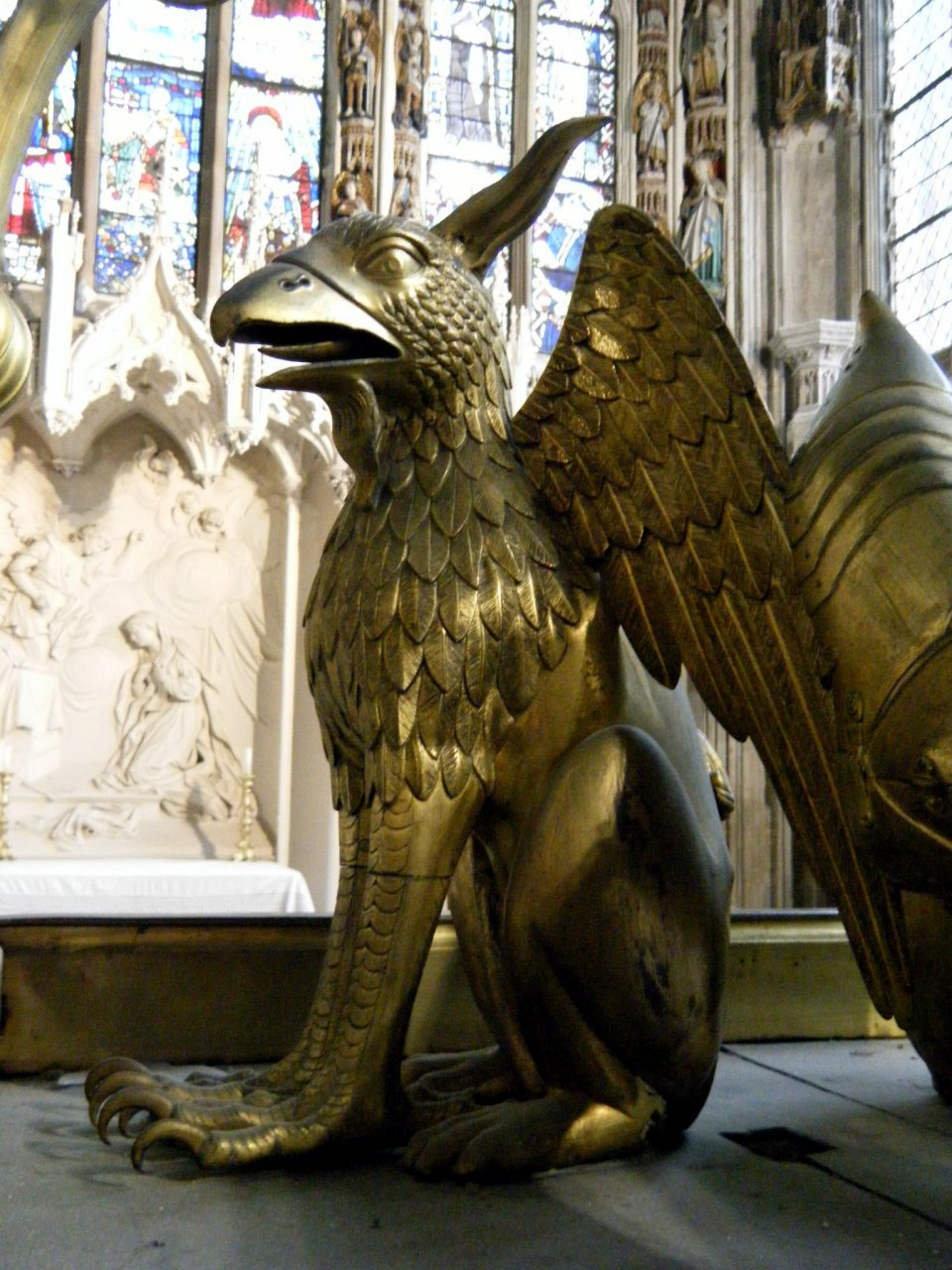 Medieval Griffin, Beauchamp Chapel, St Marys Warwick
