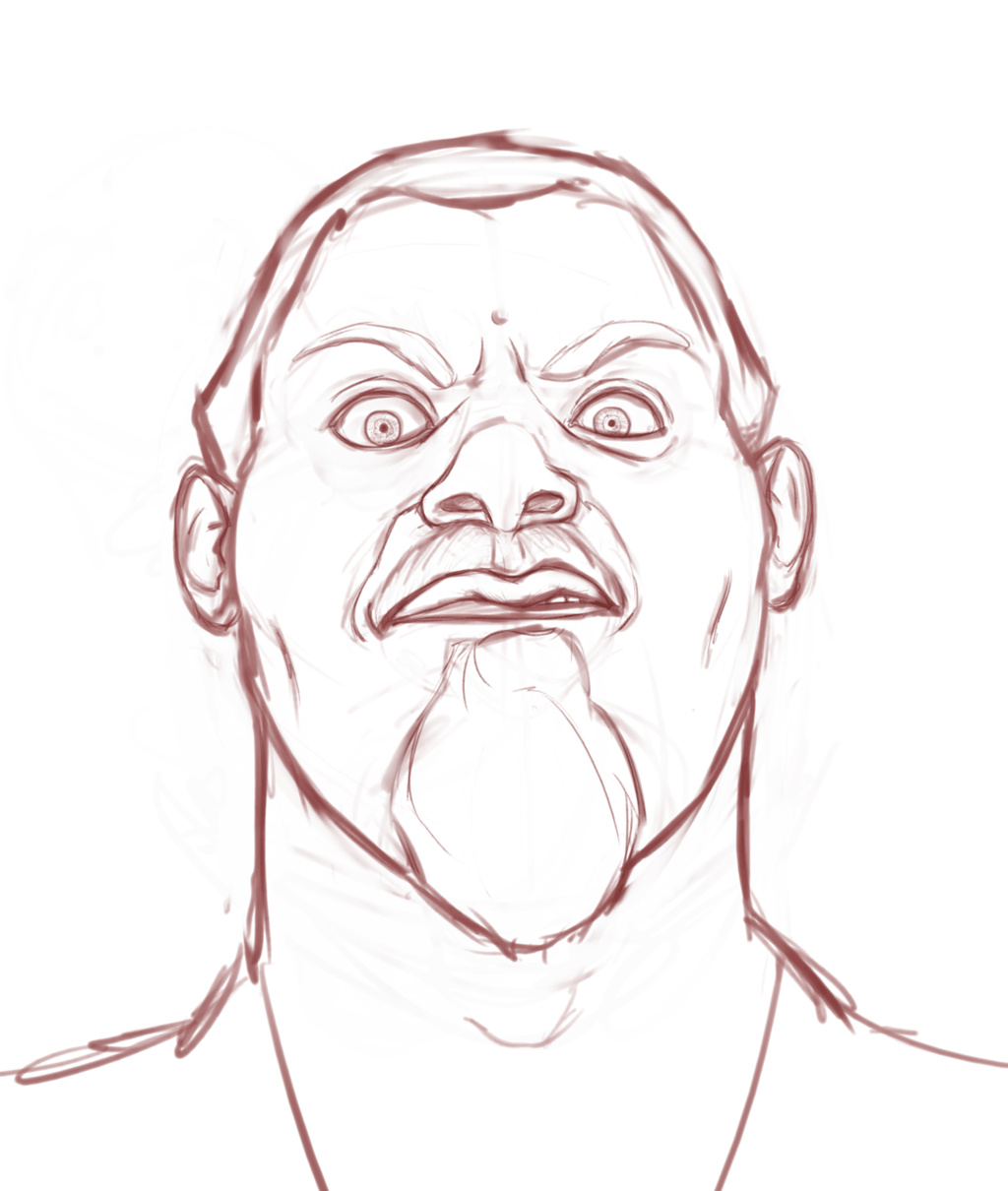 Sketch - Self-portrait (Angry)