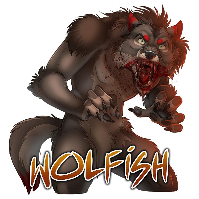 Wolfish RAWR Badge