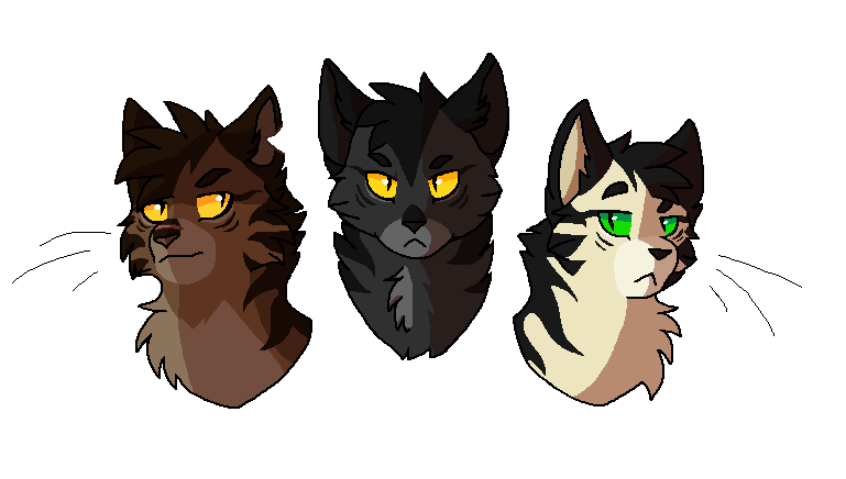 Tigerclaw, Darkstripe and Longtail