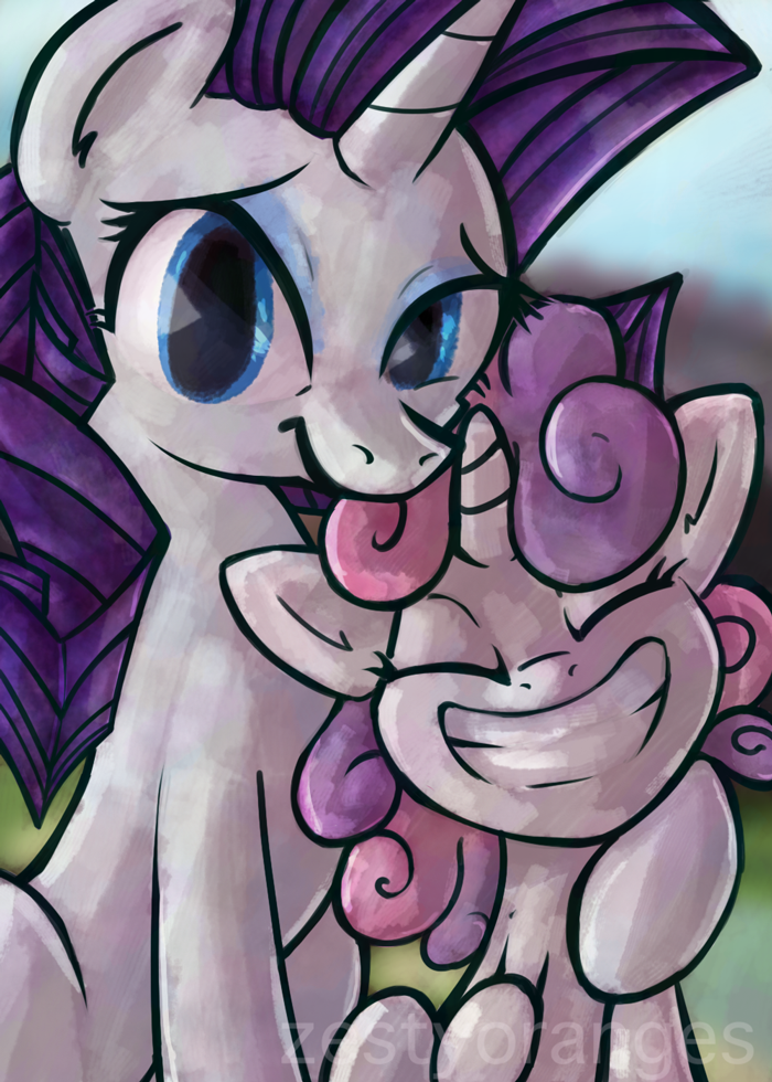 Rarity & Sweetie Trading Card