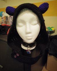 Devil horn hood