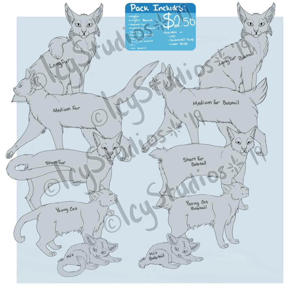 [P2U] Cat Lineart Pack