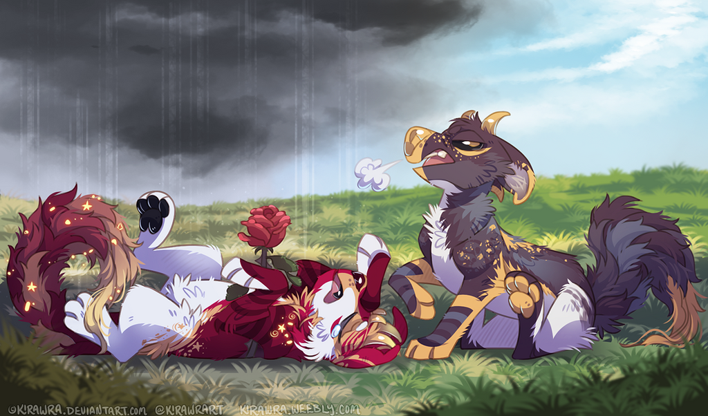 Melodramatic YCH Finished Example
