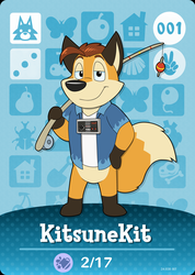 KitsuneKit Animal Crossing Card