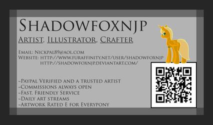 Card design: SHADOWFOXNJP (front)
