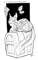 Inktober lich kitty