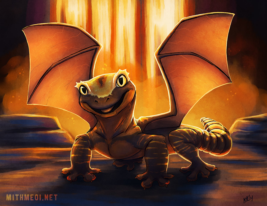 Featured image: Fire Gecko Dragon