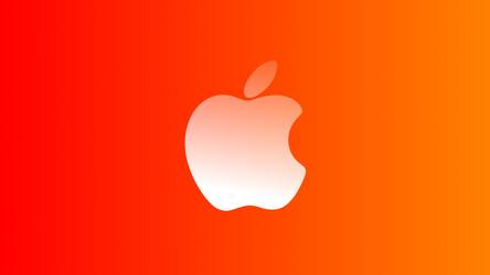 Apple Red Gradient Wallpaper