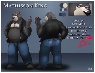 Mathisson King Reference Sheet (SFW Version)