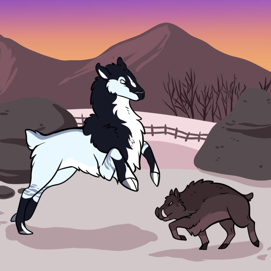 Boar Battle!