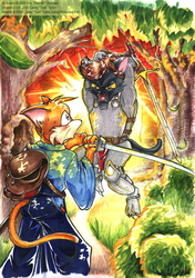 [Old Art] Desmond vs Sir Kain by Tails