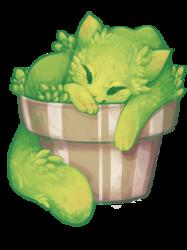 Cat-ctus Cat (sticker!)