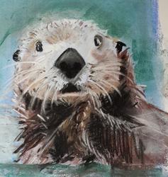 Soft pastel otter