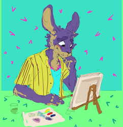 Skippy Daydreaming While Painting (not by me!)