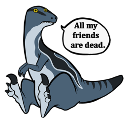 NEW PRODUCT - All my friends are dead. - Blue Sticker