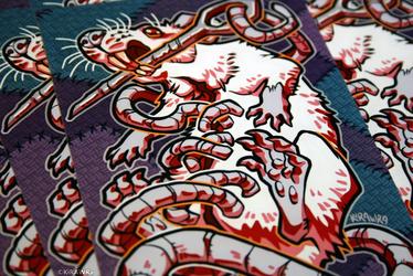 Glossy Art Print: Stitched