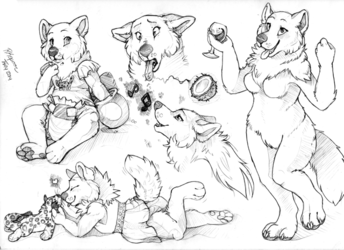 Sketch Page from Thay of Morgan Moods