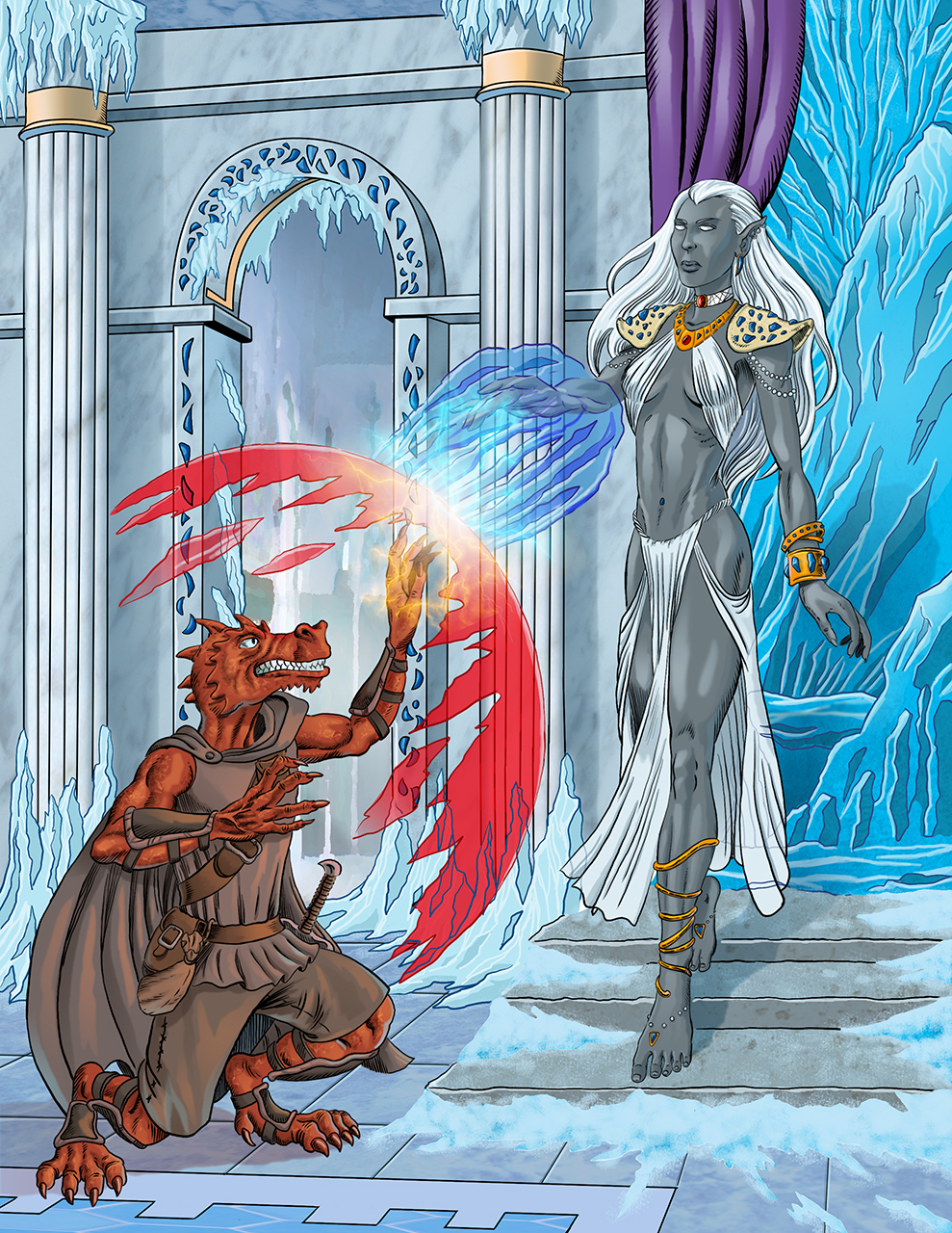 A New Saga - Battle against the Drow Priestess by Inkslinger